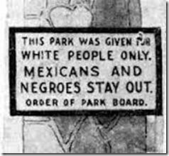 Park for Whites Only