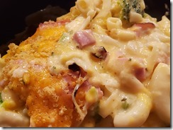 Broccoli Ham Mac and Cheese 070